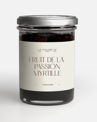 Confiture Fruit de la passion Myrtille - La Pause W